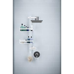 umbra シャワーラック シャワーキャディー バスラック ホワイト/アルミニウム 74.7×35.2×11.9cm FLIPSIDE 2100949の商品画像|ナビ