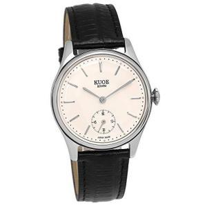 [クオ]KUOE 日本製 国産 腕時計 ウォッチ 京都ブランド クラシック アンティーク バーインデックス リザード型押しレザー ブラック 35mmケの商品画像|ナビ