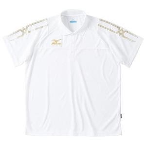 ミズノ Mizuno クロスティック ポロシャツ ホワイト 32MA507001 メンズ トレーニングウエア|arimotospshop