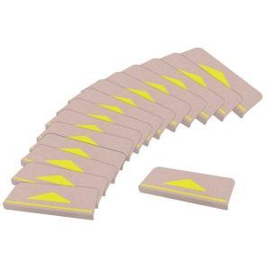 おくだけ吸着 折り曲げ付階段マット 三角マーク付 (15枚入り)|arinkurin2