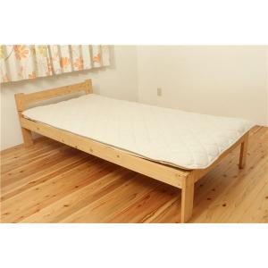 寝具 | オーガニックコットン使用 敷きパッド 『マドラス』 アイボリー セミダブル 120×205cm|arinkurin2