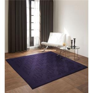 ラグマット | ラグマット/絨毯 (MAJESTY RUG 200cm×200cm パープル) 日本製 正方形 『NEXTHOME』 (リビング ダイニング)|arinkurin2