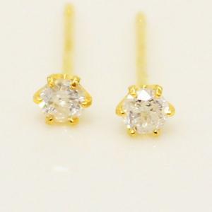 ダイヤモンド | 18金0.1ダイヤモンドピアス スタッドピアス|arinkurin2