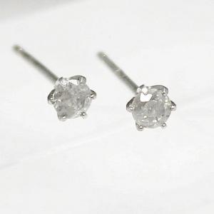 ダイヤモンド | 18金ホワイトゴールド0.1ct6爪ダイヤモンドスタッドピアス|arinkurin2