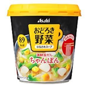 カップ食品 | (まとめ買い)アサヒフーズ おどろき野菜 ちゃんぽん 24カップ入り(6カップ×4ケース)|arinkurin2