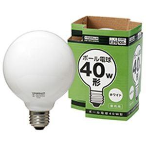 家電 | ボール電球 40W形 ホワイト|arinkurin2