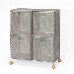 収納家具 | CDケース (CD48枚収納可能) ワイヤーメッシュ ISK184