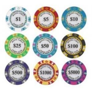 パーティグッズ | モンテカルロ・ポーカーチップサンプル10枚セット|arinkurin2