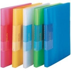 (まとめ売り×10) ビュートン 薄型クリアファイル/ポケットファイル (A4) 40ポケット FCBA440C レッド(赤)|arinkurin2