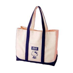 バッグ | HeLLo Kitty ハローキティ エコエコトートバッグ/鞄 (ネイビーブルー/紺) ...