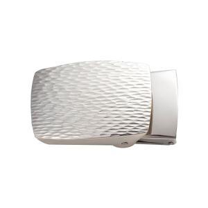 ベルトバックル ゴザ目 茣蓙目 3cmベルト幅用 銀製 磨き仕上げ 日本伝統工芸品 ハンドメイド スターリングシルバー|arinkurin2