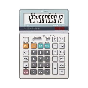 電卓 |  シャープ SHARP 実務電卓 12桁 セミデスクタイプ ELS752KX 1台 (×2...