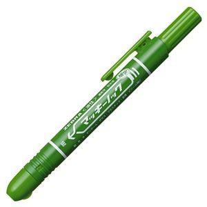 ゼブラ 油性マーカー マッキーノック 細字 緑 PYYSS6G 1本 (×30)