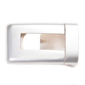 ベルトバックル 角型透かし 無地 3cmベルト幅用 銀製 磨き仕上げ 日本伝統工芸品 ハンドメイド スターリングシルバー|arinkurin2
