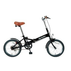 自転車(スポーツバイク) | MYPALLAS(マイパラス) 折りたたみ自転車 16インチ M101BK ブラック|arinkurin2