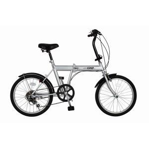 折り畳み自転車 | 折りたたみ自転車バイシクル (シルバー) ノーパンクタイヤ 20インチ シマノ製6段ギア スチールフレーム 『ACTIVEPLUS911』|arinkurin2