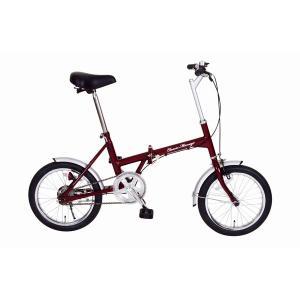自転車(シティーサイクル) | 折りたたみ自転車 (シングルギア 16インチ) クラシックレッド スチール 『Classic Mimugo』|arinkurin2