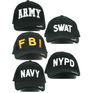 ミリタリーベースボールキャップ HC018NN〔FBI〕...