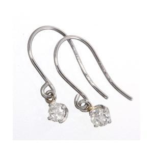 ダイヤモンド | PT900/0.1ctダイヤモンドピアス フックピアス プラチナ|arinkurin2