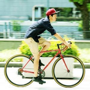 自転車(シティーサイクル) | ロードバイク 700c(約28インチ)レッド(赤) シマノ14段変速 軽量 重さ11.5kg (ORPHEUS) オルフェウスCAR013|arinkurin2