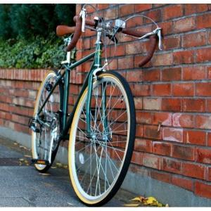 自転車(シティーサイクル) | ロードバイク 700c(約28インチ)アイビーグリーン(緑) シマノ21段変速 重さ14.4kg (Raychell) レイチェル RD7021R|arinkurin2