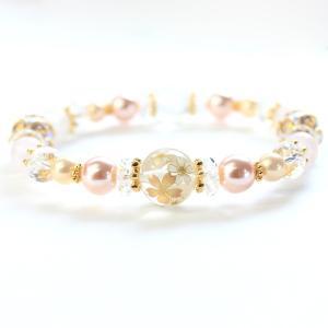 ブレスレット   ローズクォーツ 水晶 桜 ブレスレット 16cm arinkurin2
