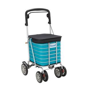 シルバーカー | シルバーカー手押し車 (スタンダードタイプ) 大容量 カバー付き 幸和製作所 『テイコブワゴンDX』 ブルー (介護用品)|arinkurin2