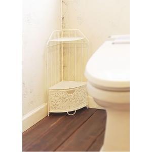 コーナーラックトイレ収納 (ホワイト) スチール製 『ファミーユ』 | 収納家具|arinkurin2