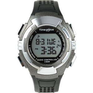 腕時計 | Time Piece(タイムピース) 腕時計 電波時計 ソーラー(デュアルパワー) デジタル ガンメタ TPW002GM|arinkurin2