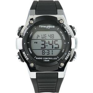 腕時計 | Time Piece(タイムピース) 腕時計 電波時計 デジタル ブラック TPW003BK|arinkurin2