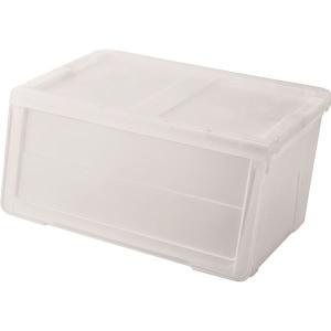 フロントオープン収納ボックス衣装ケース (ワイドMサイズ) 幅60cm クリア 日本製 『カバコ』 | 日用雑貨|arinkurin2