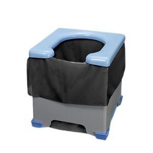 トイレ | 非常用簡易トイレポータブルトイレ (折りたたみ可) ポンチョ付き 日本製 (アウトドア レジャー 工事現場 災害時)|arinkurin2