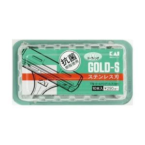 (まとめ売り×20) 貝印 T型ゴールドステンレスSM10本 | スキンケア|arinkurin2