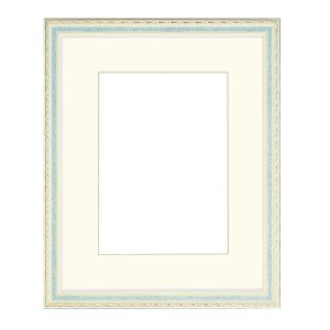 額縁 | 水彩額水彩画額縁 (水彩F4 グリーン)紐用金具付き 木製|arinkurin2
