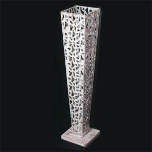 アレンジ用デザインスタンド/花器 (アンティークホワイト 角型) 直径15cm×高さ72cm 柄抜タイプ アイアン製 048550|arinkurin2