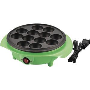 電気 たこ焼き器調理家電 (12穴 グリーン) 日本製 箱入り (キッチン 台所 リビング)(1988736)|arinkurin2