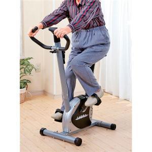 軽量エアロバイクフィットネスバイク (幅87cm) サドル6段階調節 負荷調節ダイヤル 時間 速度 距離 消費カロリー表示パネル付 | ダイエット器具|arinkurin2