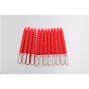 キャンドル | 8インチ スパイラルキャンドル (12本セット 赤) 長さ約20cm 燃焼約5h 『...