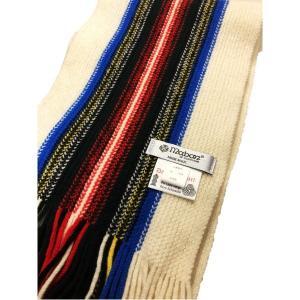 ファッション | 英国製 100%PURE NEW WOOL Maban メイバン ストライプマフラー ドレススチュアート|arinkurin2