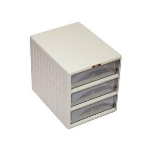 オフィス家具   TRUSCO レターケース 引き出しA4 深型3段 TOA4W3 1台 arinkurin2