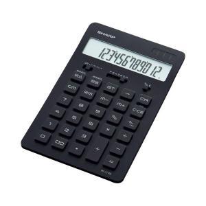 電卓 | シャープ スリムデザイン電卓 12桁ナイスサイズ ブラック ELN802BX 1台(×2)