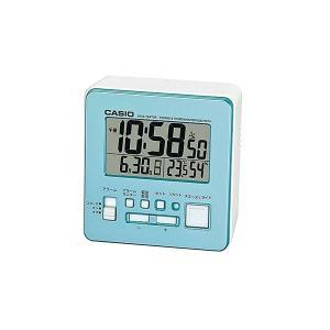 健康器具 | 温・湿度計付電波クロック パールブルー DQD805J2JF|arinkurin2