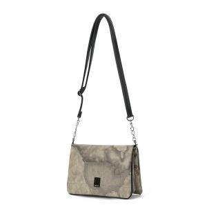 バッグ | PRIMA CLASSE(プリマクラッセ)PSH89138 仕切ポケットショルダーバッグ (グレイ)|arinkurin2
