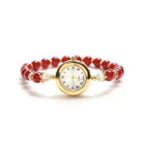 腕時計 | ジュエリーウォッチ カーネリアン 赤|arinkurin2