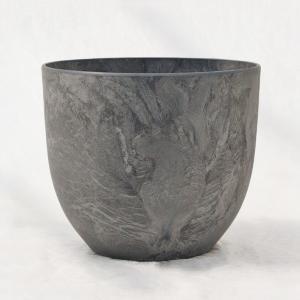 植木鉢 鉢カバー アートストーン ボーラカバー 28cm 9号 ダークグレー 穴無し arinkurin2