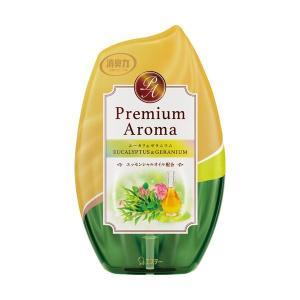 エステー お部屋の消臭力 PremiumAroma ユーカリ&ゼラニウム 400ml 1個(×10) arinkurin2
