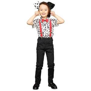 (コスプレ衣装/コスチューム) HW ダルメシアンシャツ キッズ 140cm (ハロウィン パーティー 宴会)|arinkurin2