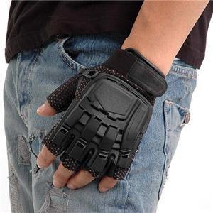 ファッション | SWAT プロテクトタイプグローブ フィンガーレス ブラック S|arinkurin2