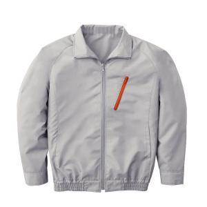 空調服 ポリエステル製長袖ブルゾン P500BN (カラー:シルバー サイズ:XL) 電池ボックスセット|arinkurin