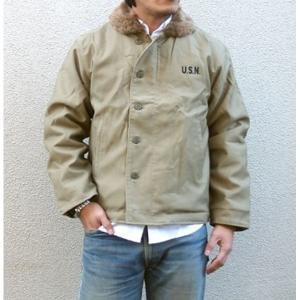 ジャケット | USタイプ 「N1」 DECK ジャケット JJ105YN カーキ 40(XL)サイズ (レプリカ)|arinkurin